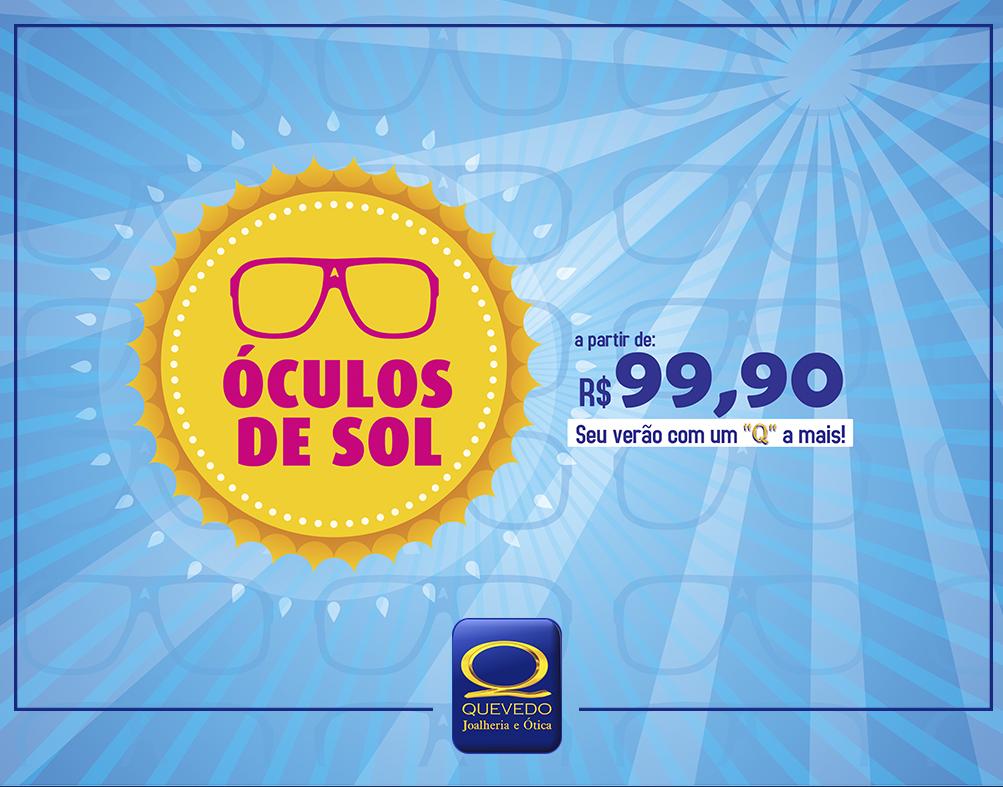8b3ea3a33 Promoção: Óculos de sol a partir de R$99,90! | Quevedo - Joalheria e ...
