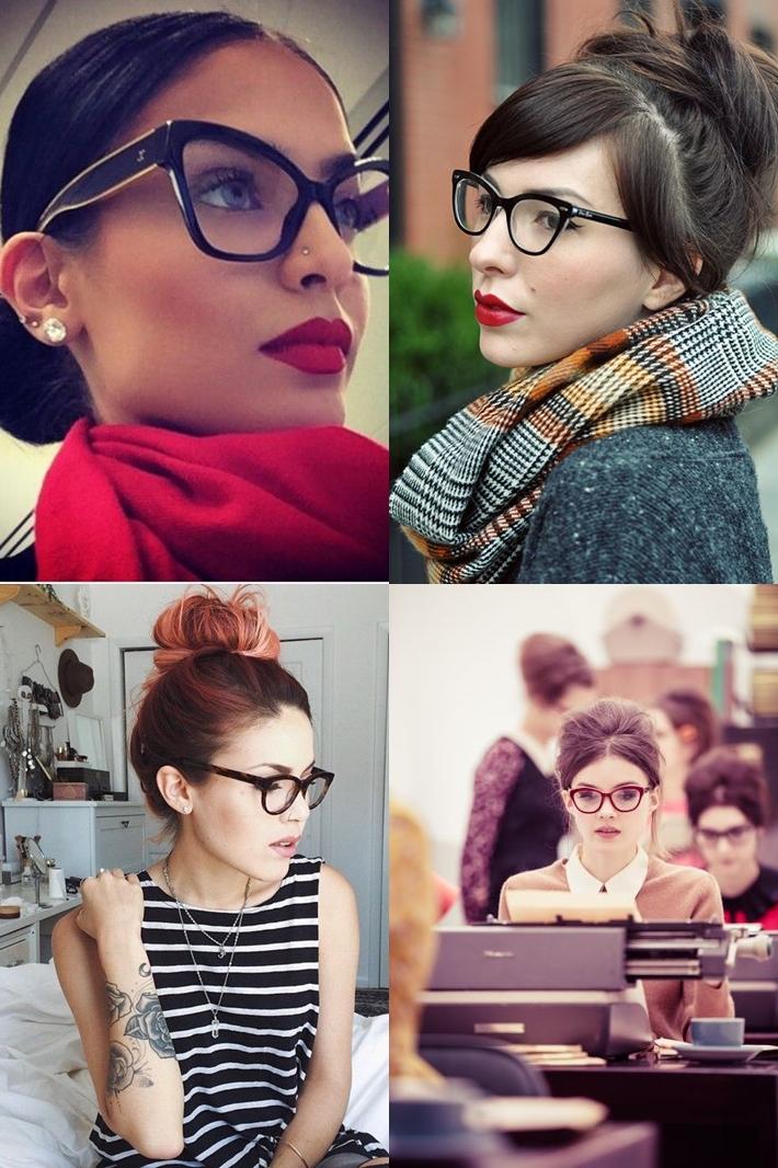 Penteados para quem usa óculos   Quevedo - Joalheria e Ótica 115780e1ff